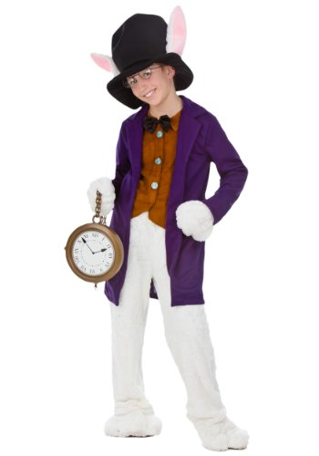 [Fun Costumes boys Big Boys' White Rabbit Costume Small] (Child White Rabbit Costume Alice In Wonderland)