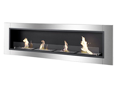 Ignis Ventless Bio Ethanol Fireplace Accalia with Sanctuary Glass