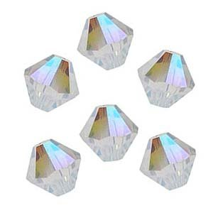 Swarovski Bicones 5301 4mm Crystal AB (50 Beads)