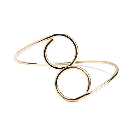 Bracciale stile retro per parte superiore del braccio effetto oro o argento di DesiDo® (oro)