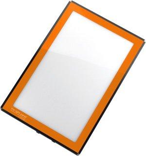 Porta-Trace LED Light Panel, Orange Frame, 8-1/2-by-11-Inch