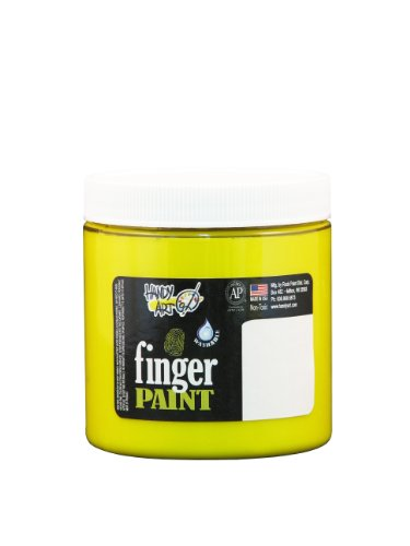 Handy Art by Rock Paint 246-010 Washable Finger Paint, 1, Yellow, 8-Ounce - 1