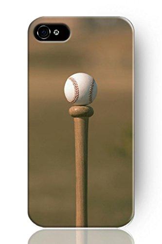 Sprawl New Fashion Design Snap-On Case For Apple Iphone 5 5S--Elegant Baseball And Wooden Bat