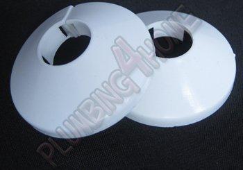 2 pezzi in pvc bianco colletto copertura tubo radiatore rosa 22mm x 2