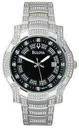 Bulova Crystal Collection Black Dial Men's Watch #96B176