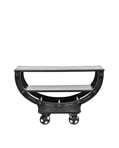 Tottenham Court Ranier Iron Console Table, Rustic Black