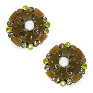 Arius Yellow Crystal Clip On Earrings