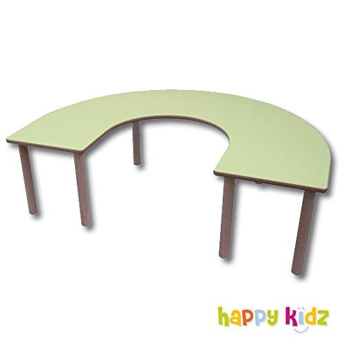 Tisch Kidz Pro – U-Form, 150 x 120 cm, verschiedene Farben und Höhen H 46 cm pink