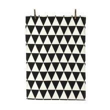 ferm Living - Triangle Küchentuch, schwarz