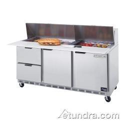 "Beverage Air Sped72-08C-2 72"" Cutting Top Sandwich/Salad Prep Table W/ Drawers - Elite Series"