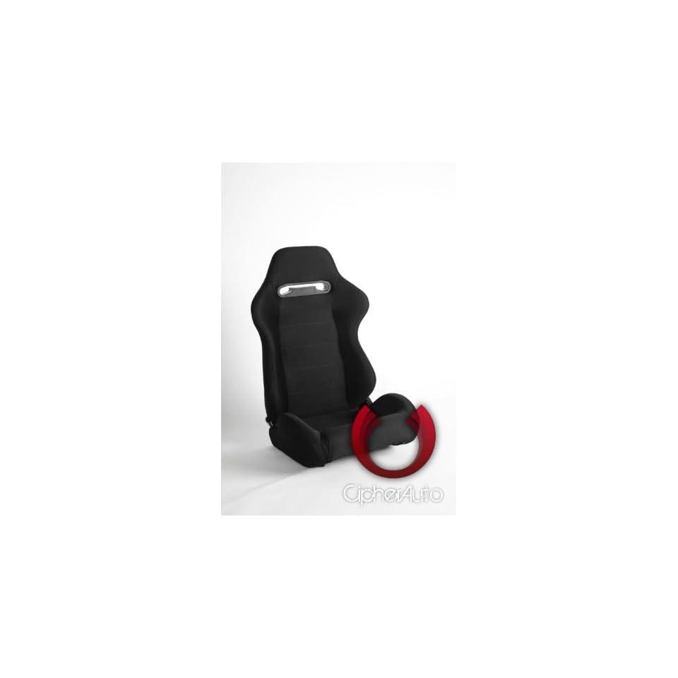 CPA1013 Black Cloth Racing Seats Automotive