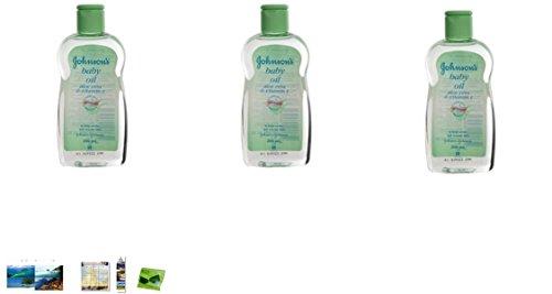 3 Packs Of Johnson & Johnson'S Baby Oil Aloe Vera Formula With Vitamin...