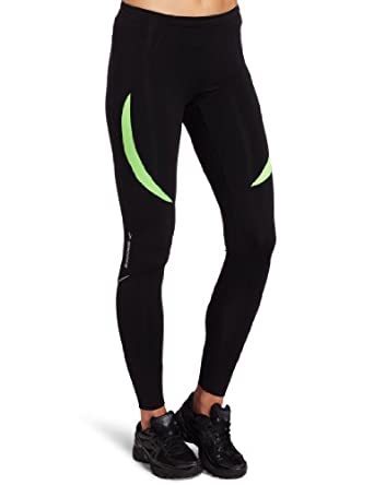 Brooks Women's Infiniti Tight,Black/Brite Green,Medium