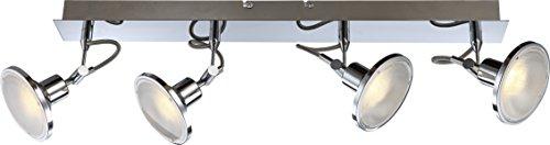 Globo Aaron 56953-4 - Plafoniera con 4 faretti LED a montaggio a soffitto