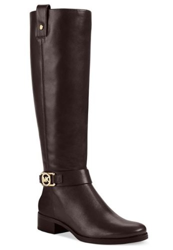 Michael Kors Charm Riding Womens Size 11 Brown Leather Fashion Knee-High Boots