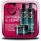 TIGI CATWALK OATMEAL & HONEY SHAMPOO 750ml & CONDITIONER 750ml TWEEN DUO + Mask For Dry, Damaged Hair 200g