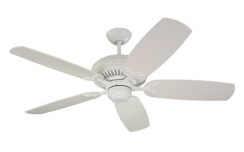 Monte Carlo 5DCR52WH DC52 52-Inch 5-Blade Ceiling Fan with Remote and White Blades, White