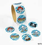 100 Pirate Stickers, 1 Roll