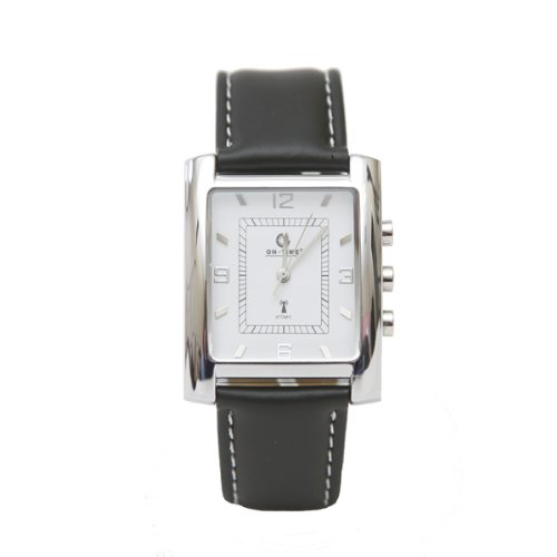 Men'S Atomic Low Vision Watch - White Face With Silver Numbers
