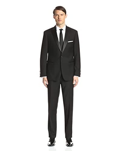 London Fog Men's Solid Tuxedo