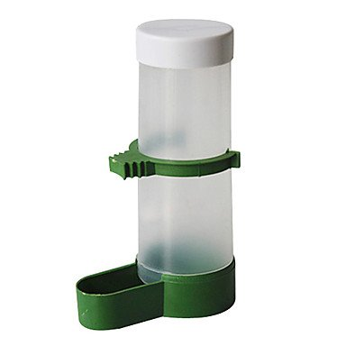 Zcl In-Cage Food Feed Automatic Dispenser For Pets Birds Parrots , Transparent , S