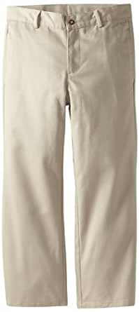 Dockers Big Boys' Uniform Husky Flat Front Twill Pant Fit, Khaki, 10