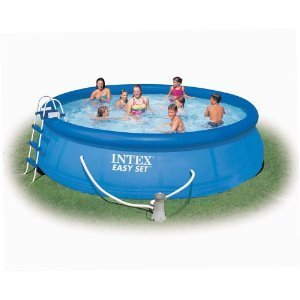 intex 16 39 x 42 easy set pool reviews best ring pools for summer. Black Bedroom Furniture Sets. Home Design Ideas
