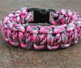 Pink Camo Paracord Survival Bracelet By Bostonred2010 by BOSTONRED2010
