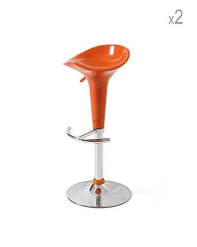 Set 2 Sgabelli Gin Fizz Arancione