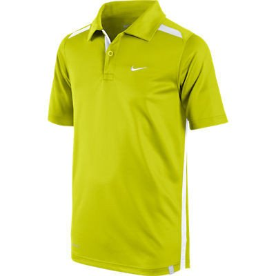 Nike Tennis Boys' Short Sleeve Club Polo Cyber and White - Size XS / Size 6-8 Years