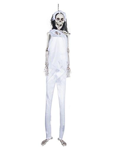 [Long Legged Skeletons Wearing Costumes Halloween Decoration Skeleton Bride White] (Dark Skeleton Bride Child Costumes)