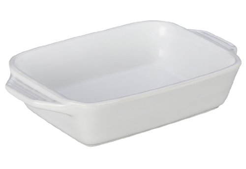 Le Creuset Stoneware Rectangular Dish, 7 By 5-Inch, White