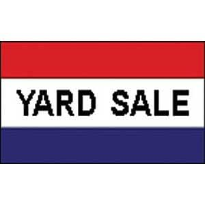 amazon com flag sign yard sale poly 3ftx5ft outdoor decorative flags patio lawn garden