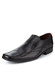 Autograph Leather Extra Wide Fit Slip-On Wingtip Shoes
