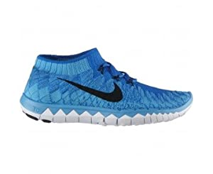 NIKE Free 3.0 Flyknit Men's Running Shoe - Blue - UK10.5