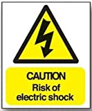 Sign Caution Risk Of Electric Shock Pk Price for Pack of 10