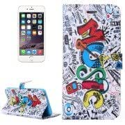 MUSIC Pattern Flip Leather Case with Holder Card Slots Wallet for iPhone 6 Plus
