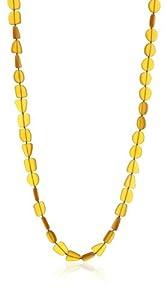 "tre ""Lottis"" Amber Glass Multiform Beaded Necklace"