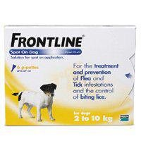 Frontline for Small Dogs (2-10kg) 6 pack from Merial Animal Health
