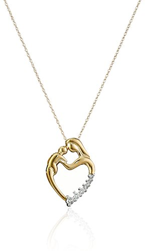 xpy-10k-yellow-gold-mother-and-child-heart-shaped-diamond-pendant-1-8-cttw-j-color-i2-clarity