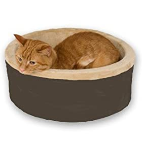 K&#038;H Thermo-Kitty Bed, 16-Inch Diameter, Mocha