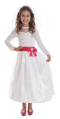 Barbie™ Braut-Kostüm für Mädchen - 8-10 Jahre
