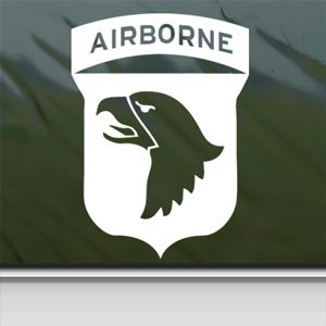 101st airborne screaming eagles wwii white for 101st airborne window decals