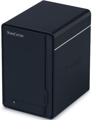 D-Link Systems ShareCenter 2-Bay USB 2.0 External Hard Drive Enclosure DNS-320 Black