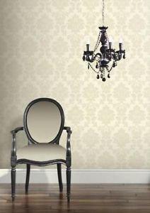 Classics Regency Damask Wallpaper - Pearl by New A-Brend