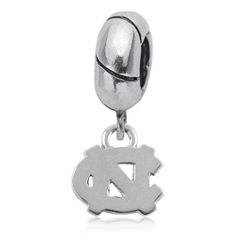 Dayna U NCAA Sports Team Logo Silver UNC Charm Bead