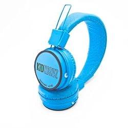Kidwavz KV-100 Childrens Wireless Bluetooth Volume Limited Headphones by Brainwavz (Blue)