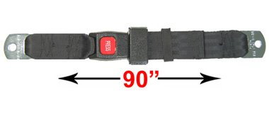Lap Seat Belt W/ Push Button Release, Universal, Navy, 90 In. front-985664