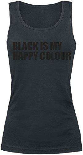 Black Is My Happy Colour Top donna nero XXL