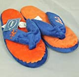 New York Mets Womens Flip Flop Thong Slippers